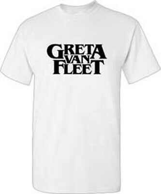 GRETA VAN FLEET Logo White T SHIRT S-M-L-XL-2XL NEW Official Bravado merchandise