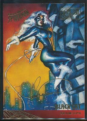 1995 Spider-Man Premiere Gold Signature Trading Card #110 Black Cat