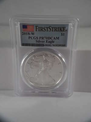 2018 W American Silver Eagle Proof West Point PR 70 DCAM PCGS SKU 601G