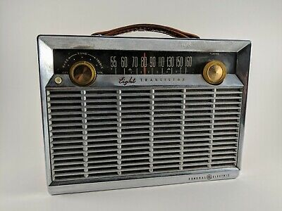 General Electric (GE) circa 1960s Eight Transistor AM Radio P-780D FULLY WORKING