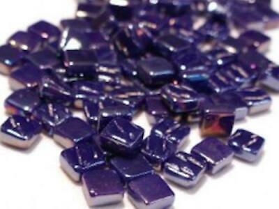 Small Iridised Royal Blue 8mm Glass Mosaic Tiles for Art & Craft Supplies