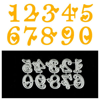 10Pcs Digital love Metal Cutting Dies For DIY Scrapbooking Album Paper Cards##