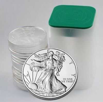 100 2012 1oz Silver American Eagles Sealed Mint Tubes
