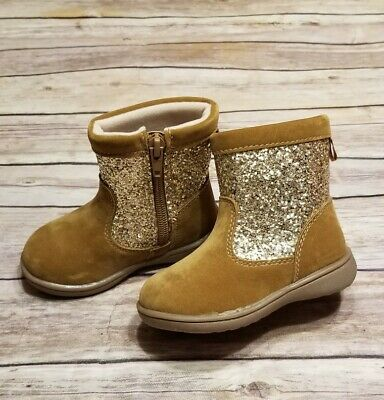 Toddler Girls Carter's Brown & Glitter Boots Size 5
