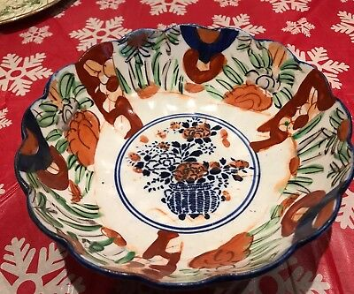 Antique Japanese 19thc. Imari Bowl used no damages. 4.5 Inches by 8.5 Inches