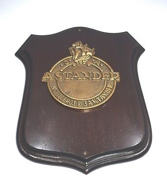 Shield Plaque vintage marine ship`s antique 'Astakder'