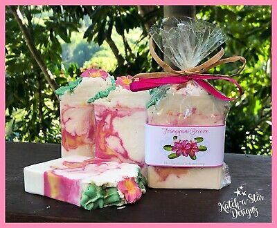 FRANGIPANI BREEZE HANDMADE CP SOAP - approx 140g !