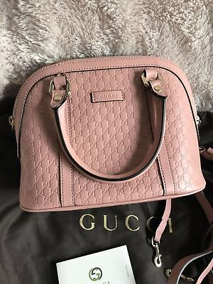 14942c94a160 Auth GUCCI GG Microguccissima Mini Dome Leather Crossbody Bag,Pink Pre Owned