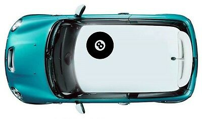 MINI BMW 8 ball ROOF DECAL CAR STICKER KIT R50 r51ANY DESIGN ANY LOGO