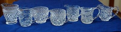 7 Jugs Creamers Crystal/glass Assorted Sizes