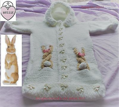 Easter Bunny Baby Sleeping Bag Knitting Pattern Chunky Wool 4 70