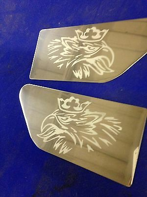 scania r series side wing plates inc fixings etched logo stainless steel