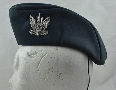 613dbb0a6dc Israel IDF ZAHAL army BLUE BERET HAT 1996 MILITARY WOMEN AIR FORCES OLD TYPE