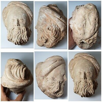 Ancient greek wondefull rare terracotta  head amyzing  rare head