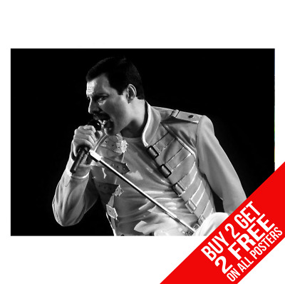Freddie Mercury Queen Dd1 Poster A4 A3 Size Print - Buy 2 Get Any 2 Free