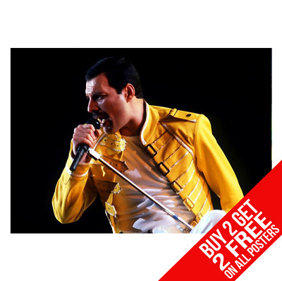 Freddie Mercury Queen Dd0 Poster A4 A3 Size Print - Buy 2 Get Any 2 Free