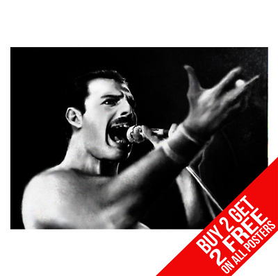 Freddie Mercury Queen Cc1 Poster A4 A3 Size Print - Buy 2 Get Any 2 Free