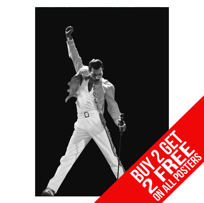 Freddie Mercury Queen Ee1 Poster A4 A3 Size Print - Buy 2 Get Any 2 Free