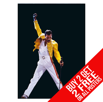 Freddie Mercury Queen Ee0 Poster A4 A3 Size Print - Buy 2 Get Any 2 Free