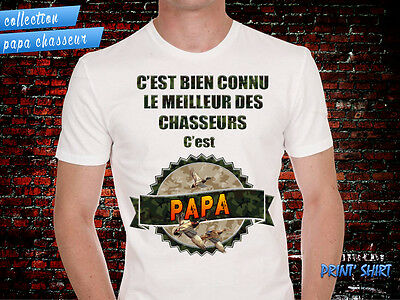 "Tee-Shirt personnalisé, humour ""papa chasseur canard"""