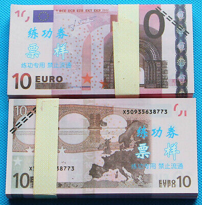 10 EURO SOUVENIR BANKNOTE 1 pack for Prank, Games, Movies & Videos and Gift