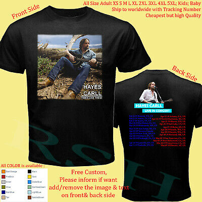 HAYES CARLL TOUR 2019 concert album shirt Adult S-5XL Youth Toddler