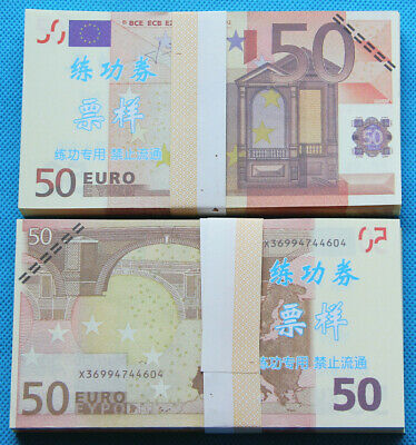 50 EURO SOUVENIR BANKNOTE 1 pack for Prank, Games, Movies & Videos and Gift