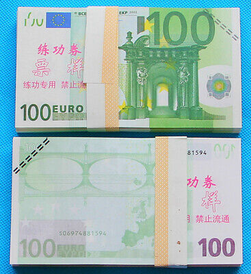 100 EURO SOUVENIR BANKNOTE 1 pack for Prank, Games, Movies & Videos and Gift