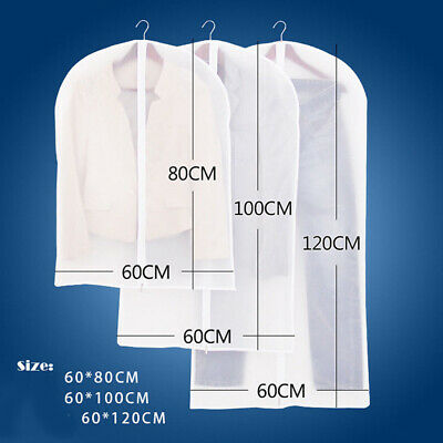 Clothes Dress Garment Dustproof Cover Bags Suit Coat Travel Storage Protector NA