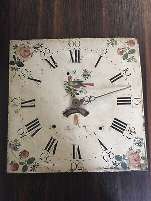 Antique Grandfather Clock - Face Longcase Very Pretty Hand Painted Face