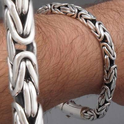 6mm BALI BYZANTINE KING CHAIN 925 STERLING SILVER MENS BRACELET 8 8.5 9 9.5 10