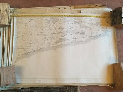 Large Roll Of Old Maps. Antique. Vintage . Job Lots & Lots. Ordinance Survey #1