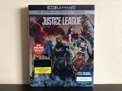 Justice League - Limited Edition SteelBook (4K Ultra HD + Blu-ray) *BRAND NEW*