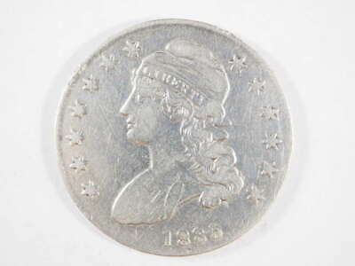 1835 P Capped Bust Lettered Edge Half Dollar Very Fine (VF) - SKU 458USHD