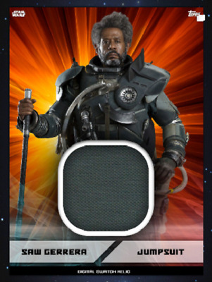 Topps Star Wars Card Trader Marathon 2019 Digital Swatch Saw Gerrera Orange