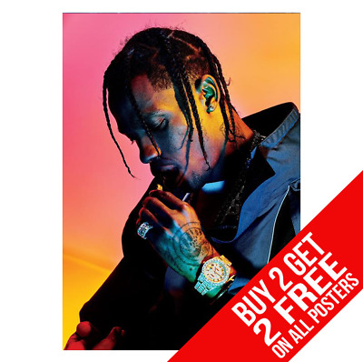 Travis Scott Astroworld Poster A3 A4 Size Cc0 Print - Buy 2 Get Any 2 Free