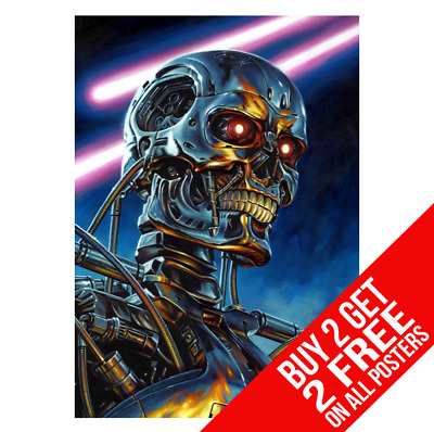 Terminator 2 Endoskeleton Poster A3 A4 Size Print - Buy 2 Get Any 2 Free