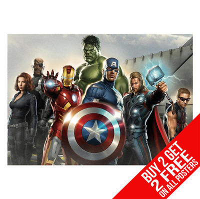 Avengers Marvel Poster Art Print A4 A3 Size Buy 2 Get Any 2 Free