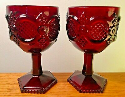 Avon 1876 Cape Cod Footed Water Goblets (2)