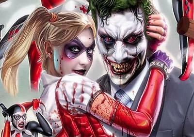 JOKER AND HARLEY QUINN Suicide Squad Batman Art Print Pic Photo Poster A3 A4