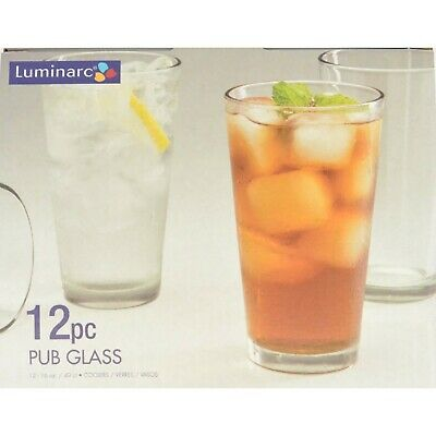 Pub Glasses 16 Oz Kitchen Drinking Water Set Of 12 Home Bar Accessories Coolers