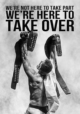 CONOR MCGREGOR 'TAKE OVER' QUOTE UFC Wall Art Print Photo Poster A3 A4