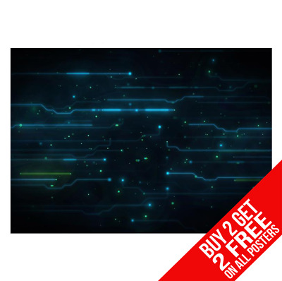 Circuit Board Poster Art Print A4 A3 Size - Buy 2 Get Any 2 Free