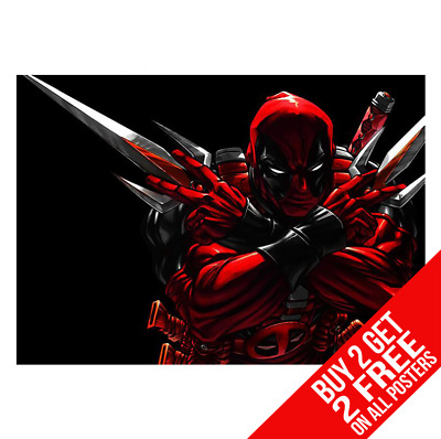 Deadpool Marvel Poster Art Print A4 A3 Size - Buy 2 Get Any 2 Free