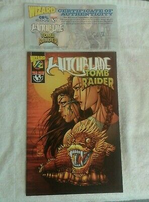 Top Cow Comics Tomb Raider Witchblade Volume. 1. #1/2 Wizard Issue + Certificate