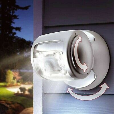 Motion Activated Cordless Sensor LED Light Indoor Outdoor Garden Wall Patio Shed