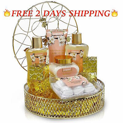 Gift Basket Wild Rose Raspberry Fragrance Bath and Body Women's Care