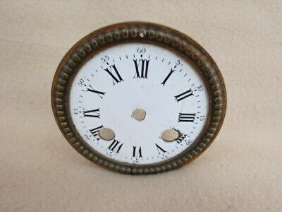 Antique Brass Figural Clock Dial Surround Fit An Aperture Of 8.8Cm