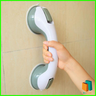 Bathroom anti slip safety rail Suction Handle Grab Bar for Shower Tub Glass Door