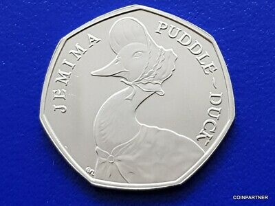 Jemima Puddleduck 50p Beatrix 2016 Collection Rare Collectable Uncirculated